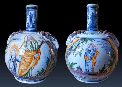 Gourde Faience de Nevers